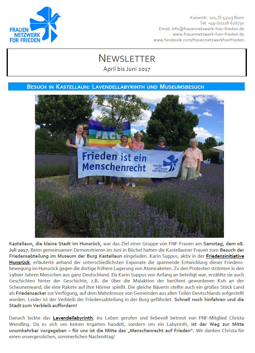 FNF Newsletter April bis Juni 2017